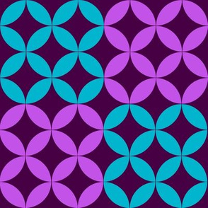 Diamond Circles in Purple and Turquoise