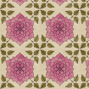 seamless mandala flower
