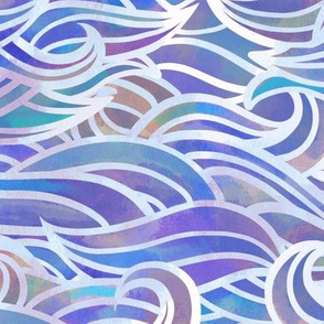 Wave pastel