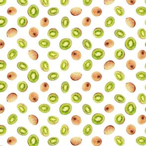 kiwi fruit in a watercolor print
