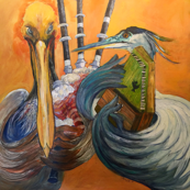 Pelican and Blue Herring Play An Unlikely Duet