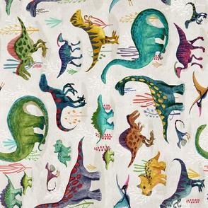 Dinosaurs bright {rotated}