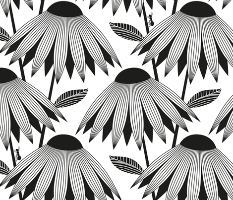 Black-Eyed Susan fabric by cerigwen on Spoonflower - custom fabric