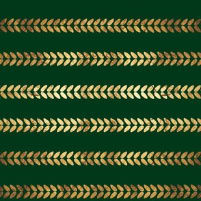 Knitted Braids on Emerald