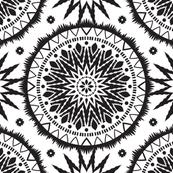 Black and white mandala ornament