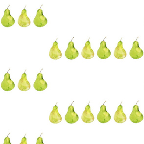pears in green watercolor