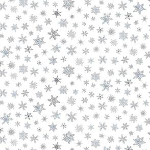 snowflakes in watercolor