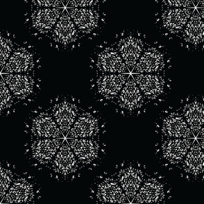 Black and White Snowflake Large