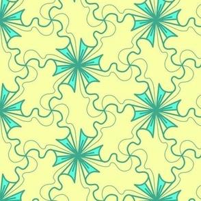 Turquoise Flower Pinwheel