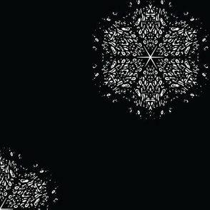 Black and White Snowflake Small