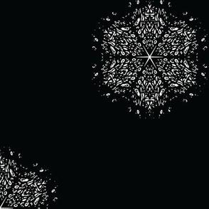Black and White Snowflake Small