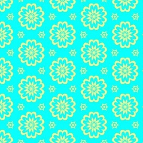 Dainty Daisy Soft Yellow and Baby Blue Floral