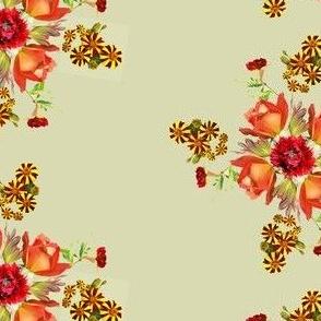 orange rose mosaic2