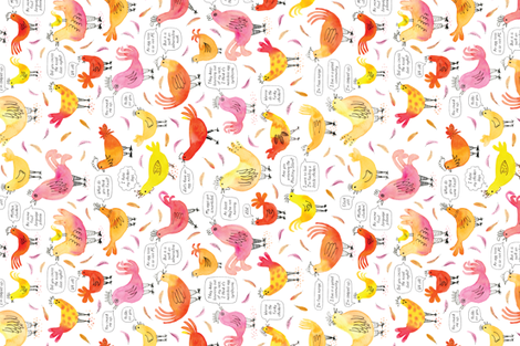 Something to Cluck About fabric by rubypixel on Spoonflower - custom fabric
