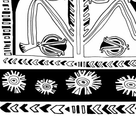 "South Pacific Samoa Man 24""x40"" fabric by vagabond_folk_art on Spoonflower - custom fabric"