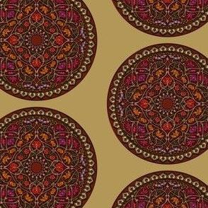 Mandala Fuchsia Gold