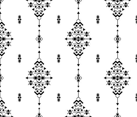 bw fabric by danira on Spoonflower - custom fabric