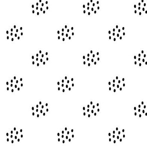 Black dots on white
