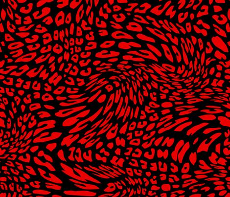 Christmas Red Black Color Animal Leopard Skin Twist Pattern fabric by artpics on Spoonflower - custom fabric