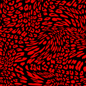 Christmas Red Black Color Animal Leopard Skin Twist Pattern