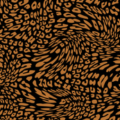 Copper Brown Black Color Animal Leopard Skin Twist Pattern