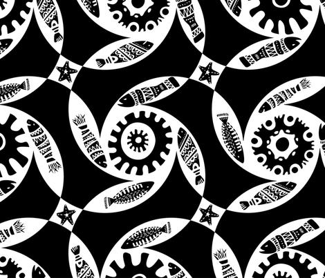 sea_02_1 fabric by talanaart on Spoonflower - custom fabric