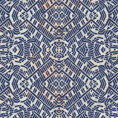 protea blue Brian fabric by susiprint on Spoonflower - custom fabric