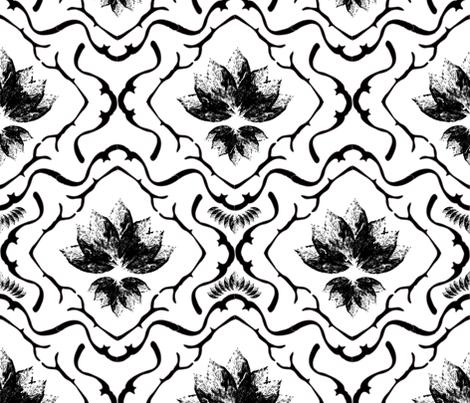 Black ´n´ White Ornament fabric by mara_designs on Spoonflower - custom fabric