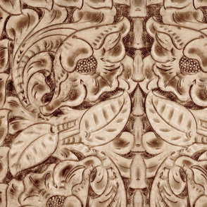 leather carved pale