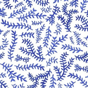 Chinoiserie Leaf in Blue