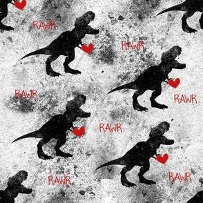 Grunge Dinosaur Valentine RAWR