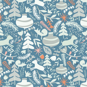 Woodland Christmas Blue