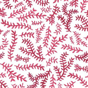 Chinoiserie Leaf in Red