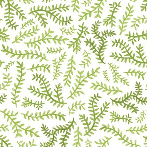 Chinoiserie Leaf in Green
