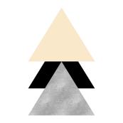 Geometric Triangles in pink Grey