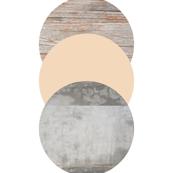 Circles pink grey