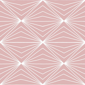 Geometric white lines on pink