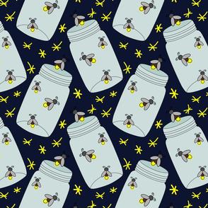 Fireflies In A Jar - Dark Blue