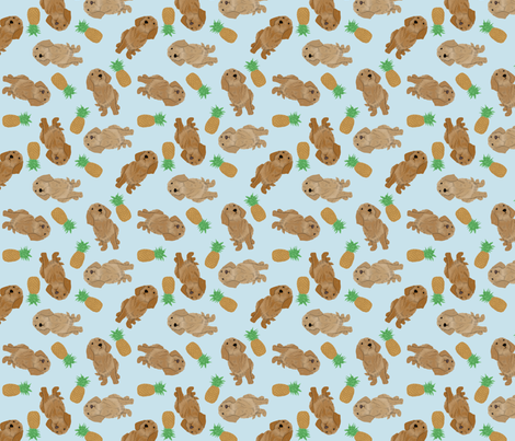 Tiny Basset Fauve de Bretagne - pineapples fabric by rusticcorgi on Spoonflower - custom fabric