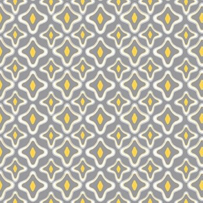 Ogee Argyle Gray and Yellow