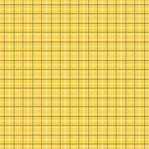 Yellow Tattersall Plaid