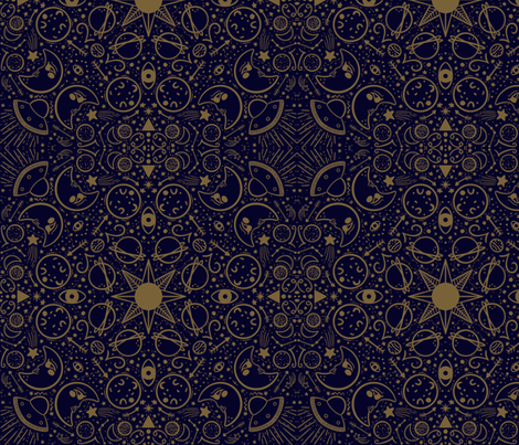 Seeing Stars fabric by how-store on Spoonflower - custom fabric