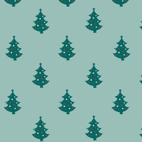 Retro Christmas Trees green