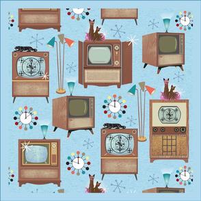 18 inch Vintage TV Napkins