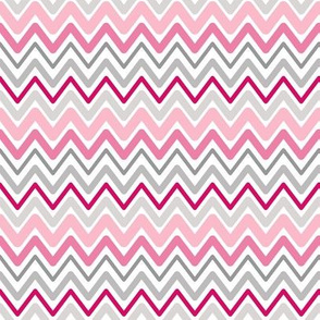 Soft Chevron Waves Pink Small Scale