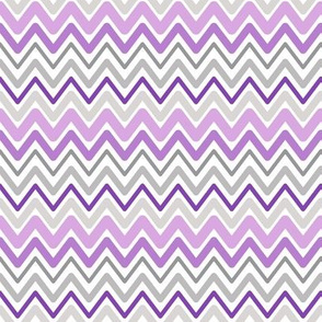 Soft Chevron Waves Purple Small Scale