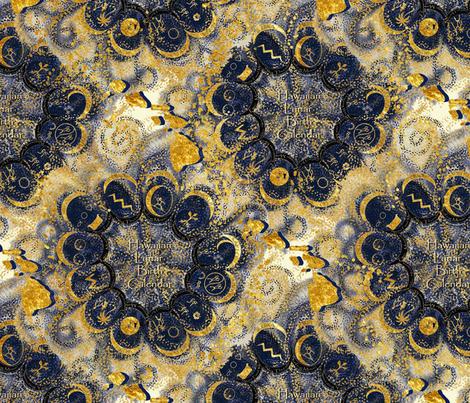 Hawaiian Lunar Birth Calendar - Astrology fabric by kedoki on Spoonflower - custom fabric