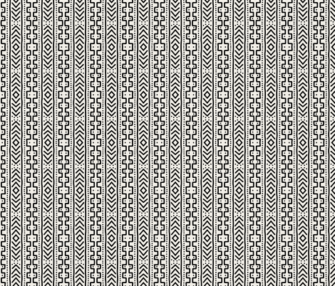 Mudcloth 2 - small scale (1 inch) fabric by kelly_korver on Spoonflower - custom fabric