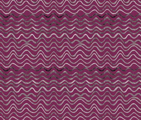 Garden Waves   Forager's Brights fabric by lochnestfarm on Spoonflower - custom fabric