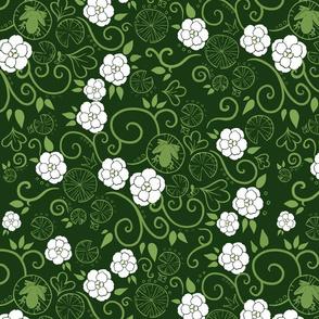 Tiana brocade dark green